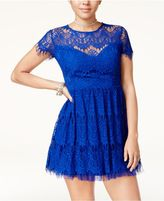 B. Darlin Juniors' Lace Fit and Flare Dress