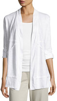 Neon Buddha Forever Young Open-Front Jacket, White