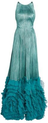Maria Lucia Hohan Ruffle-Trim Coralia Gown
