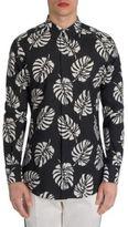 Dolce & Gabbana Banana Leaf Printed Shirt