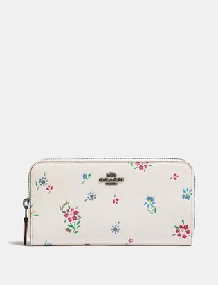 Coach Medium Zip Around Wallet With Wildflower Print