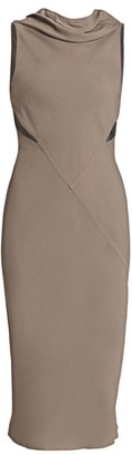Rick Owens Skorpio Sleeveless Cutout Midi Dress