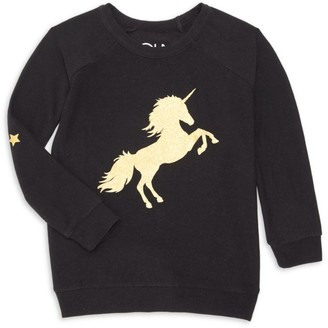 Chaser Girl's Golden Unicorn Sweater