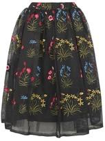 Rare **Sam Faiers Floral Embroidered Midi Skirt