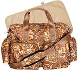 Trend Lab Paisley Brown Deluxe Duffle Diaper Bag, Paisley Brown by