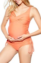 Maternal America Women's Ruched Maternity Tankini Swimsuit