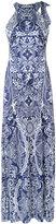 Mary Katrantzou Shaw printed gown - women - Spandex/Elastane/Viscose - M