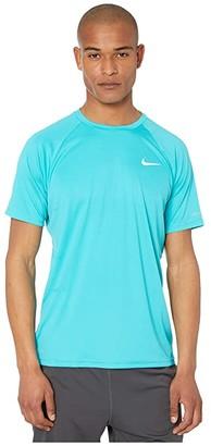 Nike Essential Short Sleeve Hydroguard (Black) Men's Swimwear