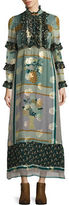 Anna Sui Patchwork Silk-Blend Maxi Dress