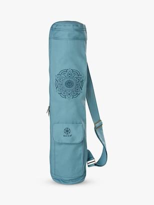 Gaiam Niagara Embroidered Cargo Yoga Mat Bag, Blue