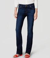 LOFT Curvy Boot Cut Jeans in Pure Dark Indigo