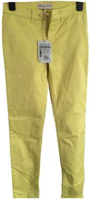Emilio Pucci Yellow Cotton Jeans for Women
