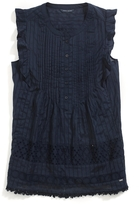 Tommy Hilfiger Final Sale- Sleeveless Eyelet Top