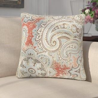 Winston Porter Rossi Indoor / Outdoor Paisley Throw Pillow