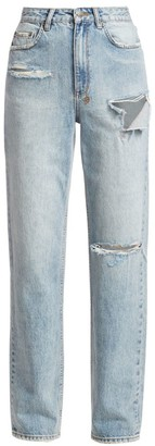 Ksubi Playback High-Rise Skream Trashed Jeans