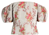 Brock Collection Boile off-the-shoulder floral-jacquard top