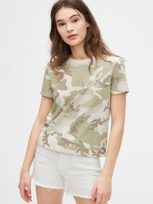 Gap Authentic Cropped Print T-Shirt