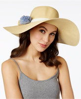 Calvin Klein Straw Flower Floppy Hat
