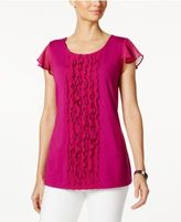Charter Club Ruffled Flutter-Sleeve Top, Created for Macy's