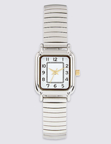 M&S Collection Square Face Analogue Expandable Watch