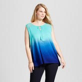 U-knit Women's Plus Size Tassle Dip Dye Blouse