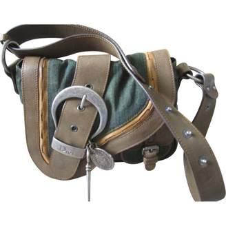 Christian Dior Gaucho Green Cloth Handbags