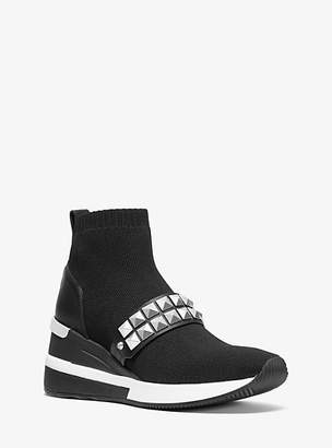 MICHAEL Michael Kors Skyler Studded Stretch-Knit Sock Sneaker