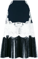 Jonathan Simkhai lace panel pleated skirt - women - Polyamide/Polyester/Spandex/Elastane/Viscose - 0
