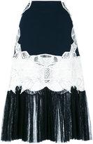 Jonathan Simkhai lace panel pleated skirt
