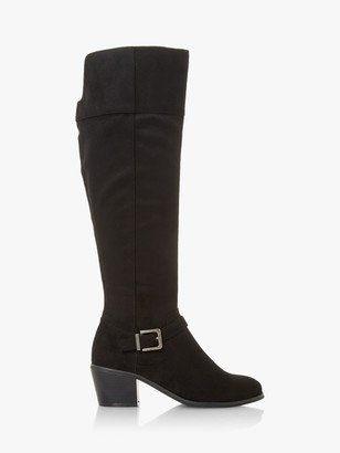 Head Over Heels Tinsleyy Buckle Detail Over The Knee Boots