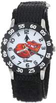 "Disney Kids' W001007 ""Time Teacher"" Cars Stainless Steel Watch With Black Nylon Band"