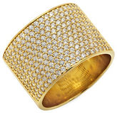 Crislu 18K Rose Gold and Sterling Silver Pave Band Ring