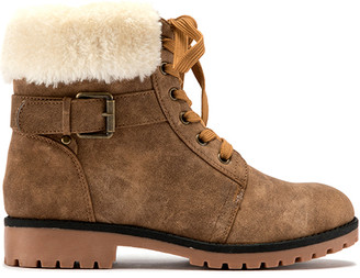 Lamo Casual boots Brown - Brown Buckle-Accent Faux Fur Boot - Kids