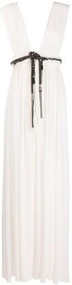 Saint Laurent Belted Long Dress