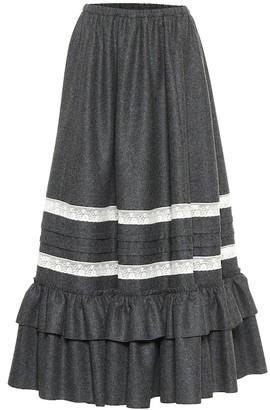 Gucci High-rise wool maxi skirt