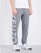 Kenzo Striped-logo cotton-jersey jogging bottoms