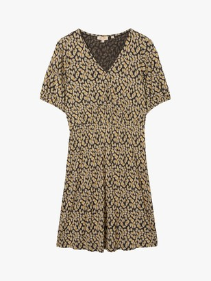Fat Face FatFace Iona Ikat Floral Midi Dress, Multi