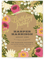 Minted Floral Canopy Children's Birthday Party Invitations