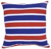 Threshold Red and Blue Stripes Outdoor Pillow 18
