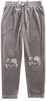 Hello Kitty Embroidered Face Jogger Pants, Little Girls (4-6X)