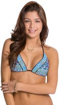 Red Carter Moroccan Tile Tassle Triangle Bikini Top 8124181
