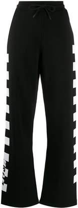 MSGM check print track pants