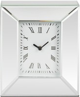 Seiko Gold Tone Mantle Mantel Quartz Battery Clock with Full figure Arabic Dial QXG146G