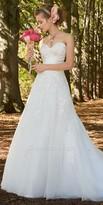 Camille La Vie Satin Strapless Tulle Wedding Dress