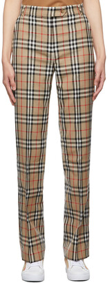 Burberry Beige Vintage Check Trousers