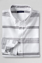 Classic Men's Tailored Fit Pattern Sail Rigger Oxford Shirt-Pearl White