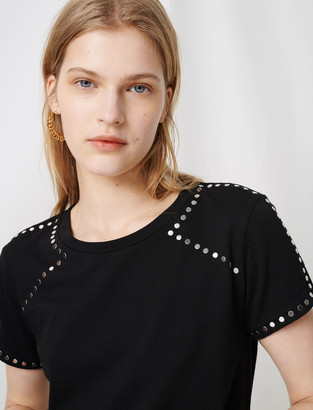 Maje Rock n roll T-shirt with studs