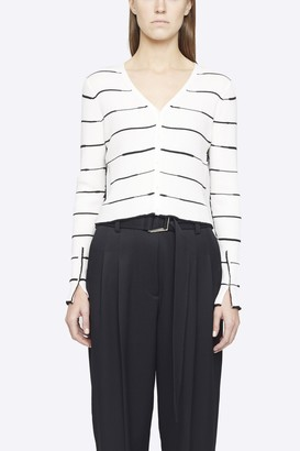 3.1 Phillip Lim Striped Ribbed Cardigan