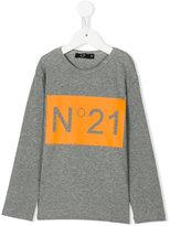 No21 Kids long sleeve printed T-shirt