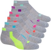 Puma Non-Terry Low-Cut Socks - 6-Pack, Ankle (For Little and Big Girls)